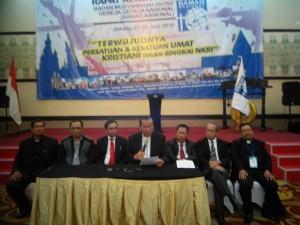 Fungsionaris Inti DPP Bamag Nasional dan Dewan Pembina MenyampaikanKeterangan Pers