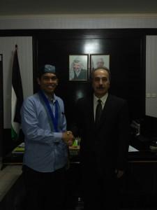 Ketua Umum PP GMKI Sahat Martin Philip Sinurat dan Wakil Duta Besar Palestina untuk Indonesia Taher Ibrahim Abdallah Hamad